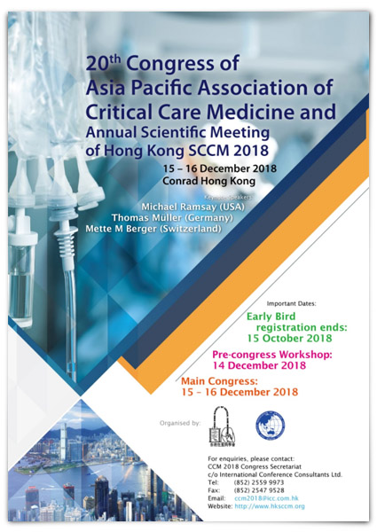 20th Congress of APACCM and ASM of HKSCCM 2018